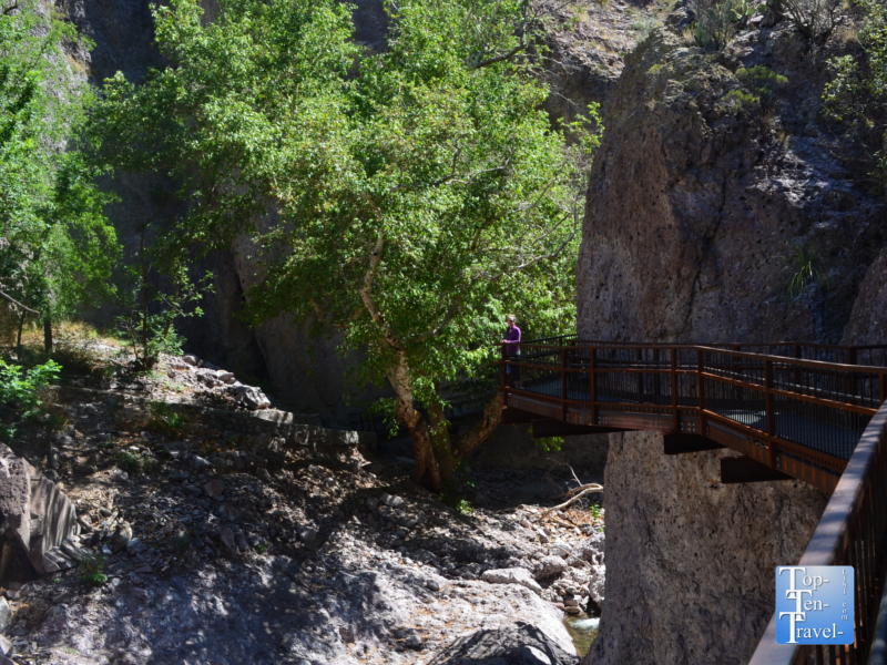 Scenic vistas at the Catwalk National Recreational site in New Mexico
