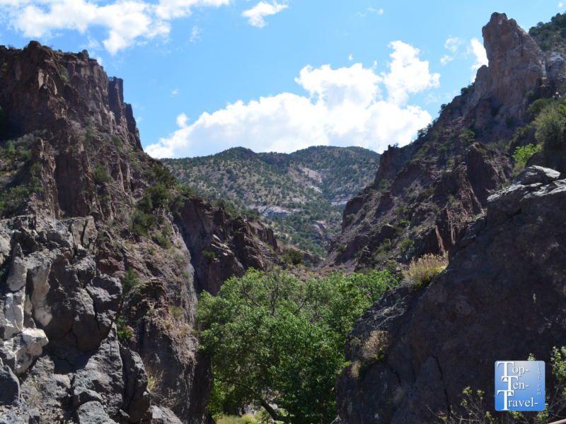 Scenic views at the Catwalk National Recreation site in New Mexico