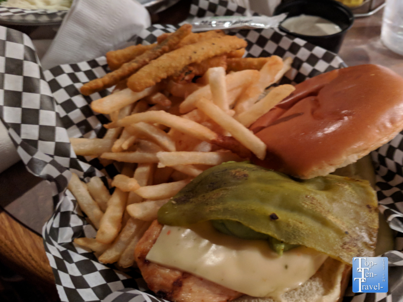 Chicken sandwich at Big Nose Kate's Saloon in Tombstone, Arizona