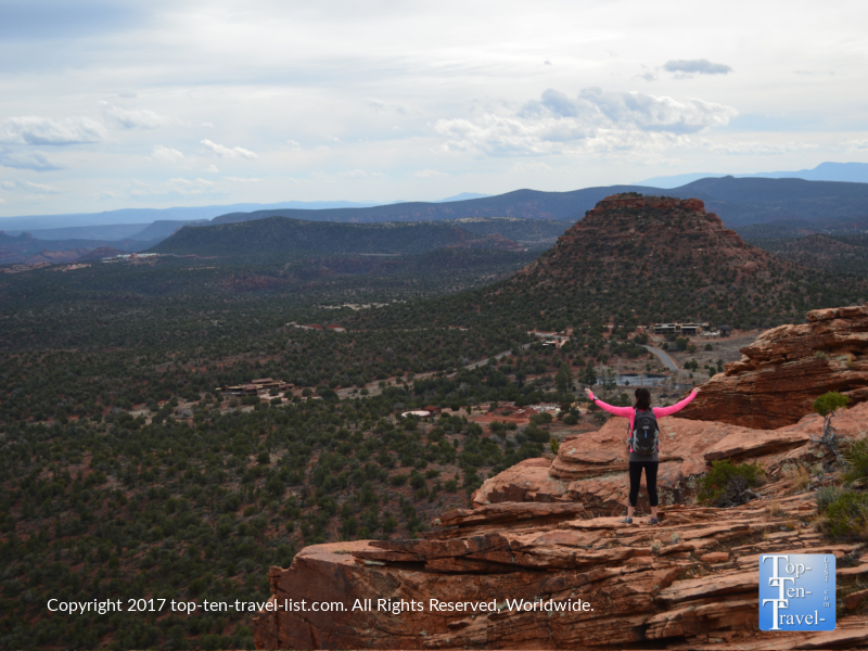 Incredible views at the summit of Doe Mountain in Sedona, Arizona