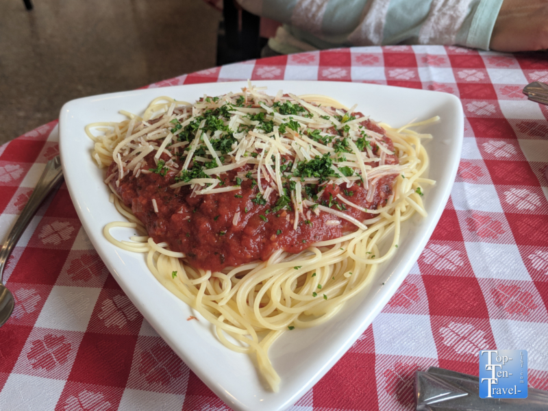 Marinara pasta at Shevrek's Italian in downtown Silver City, New Mexico