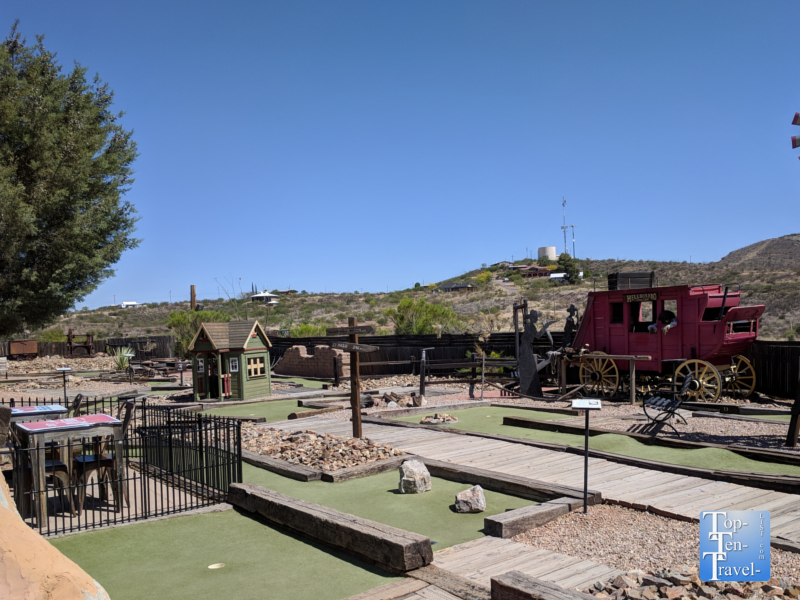 Mini golf course in Tombstone, Arizona