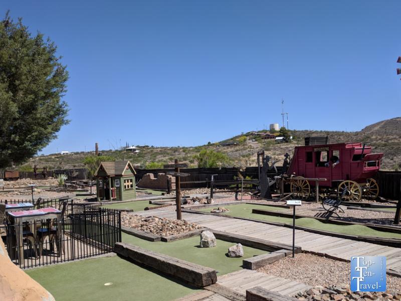 Mini golf course in Tombstone, Arizona