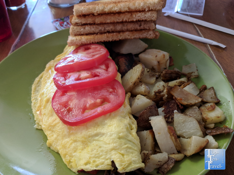 Omelet at the OK Cafe in Tombstone, Arizona