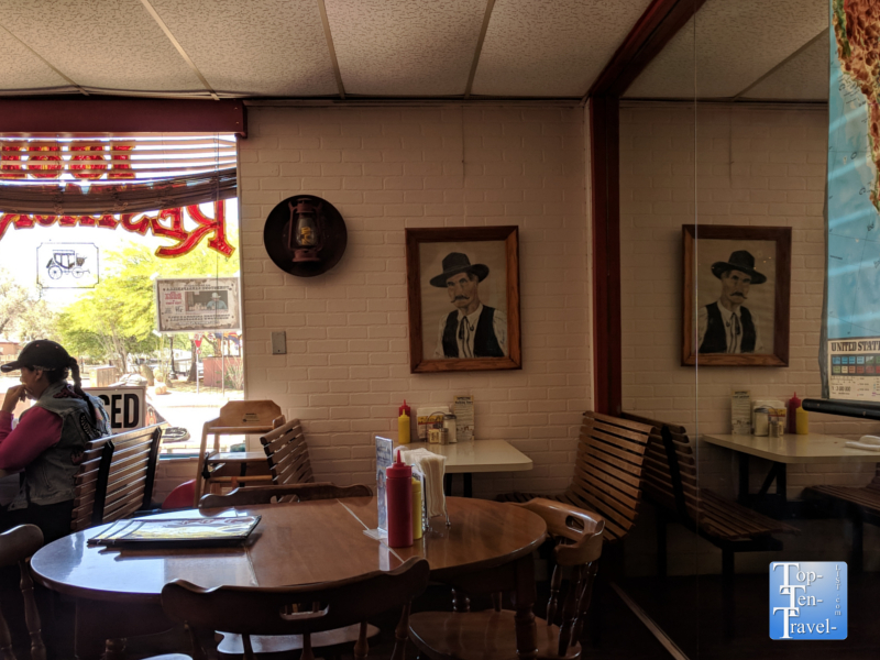 Rustic decor at the OK Cafe in Tombstone, Arizona