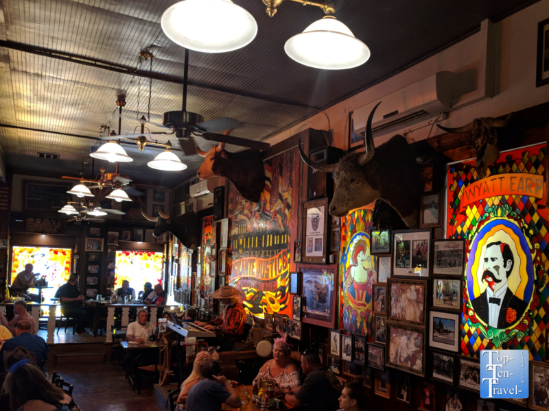 Rustic decor at Big Nose Kate's Saloon in Tombstone, Arizona