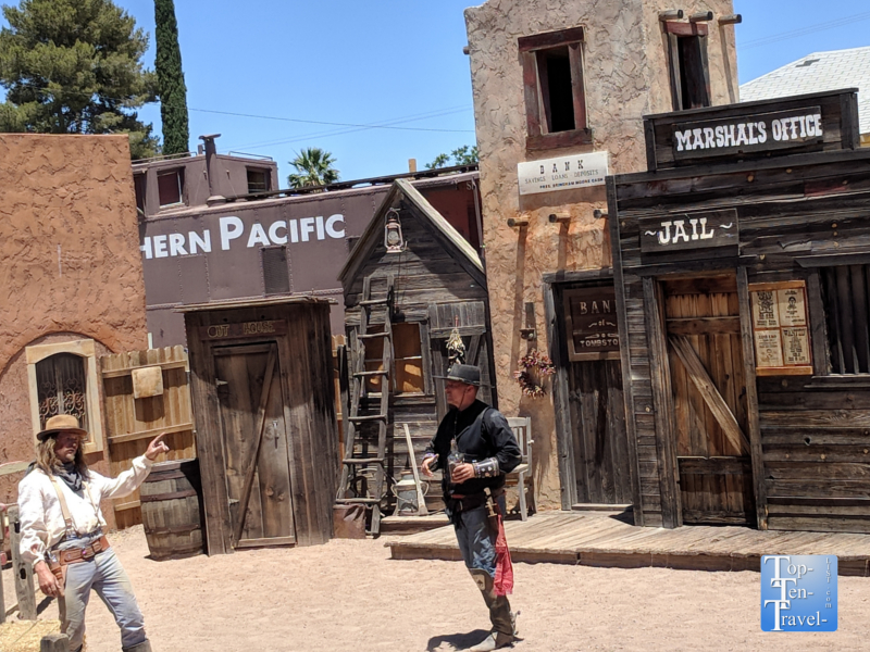 Gunfight reenactment in Tombstone, Arizona