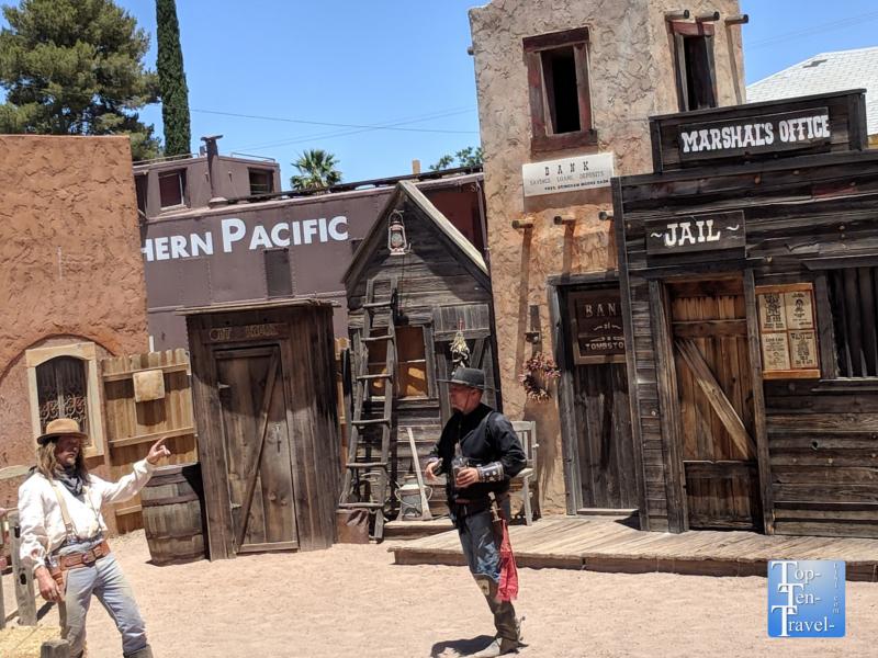 Gunfight reenactment in Tombstone, Arizona