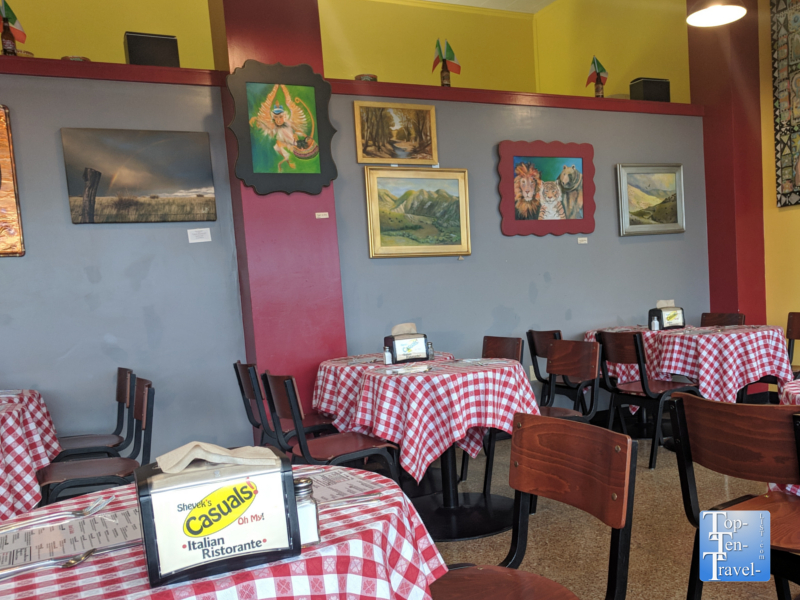 Shevrek's Italian in downtown Silver City, New Mexico