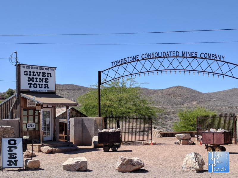 Silver mine tour in Tombstone, Arizona