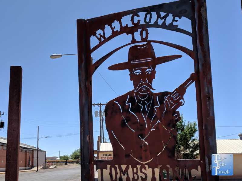 Welcome to Tombstone sign on Allen Street