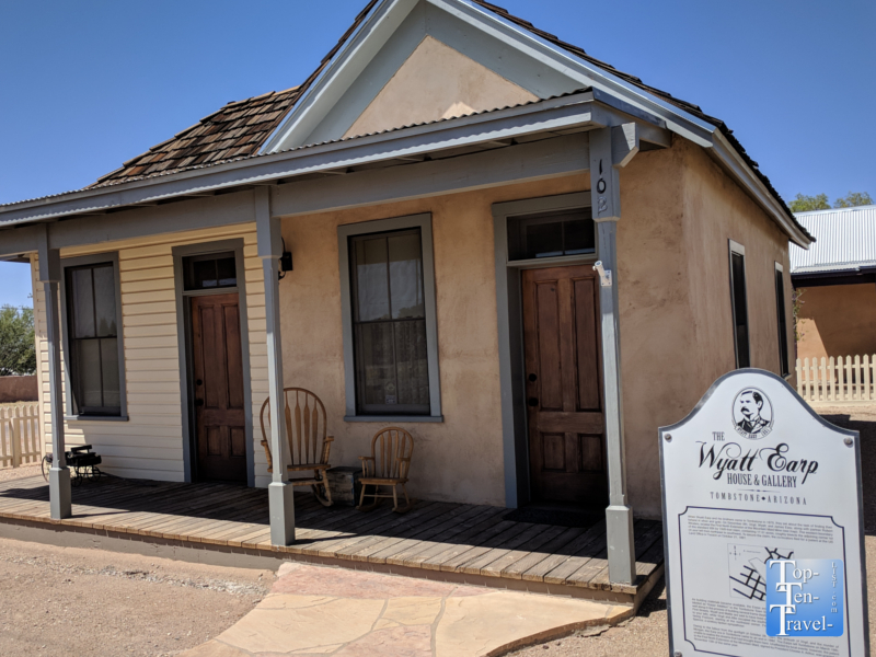 Wyatt Earp house in Tombstone, Arizona