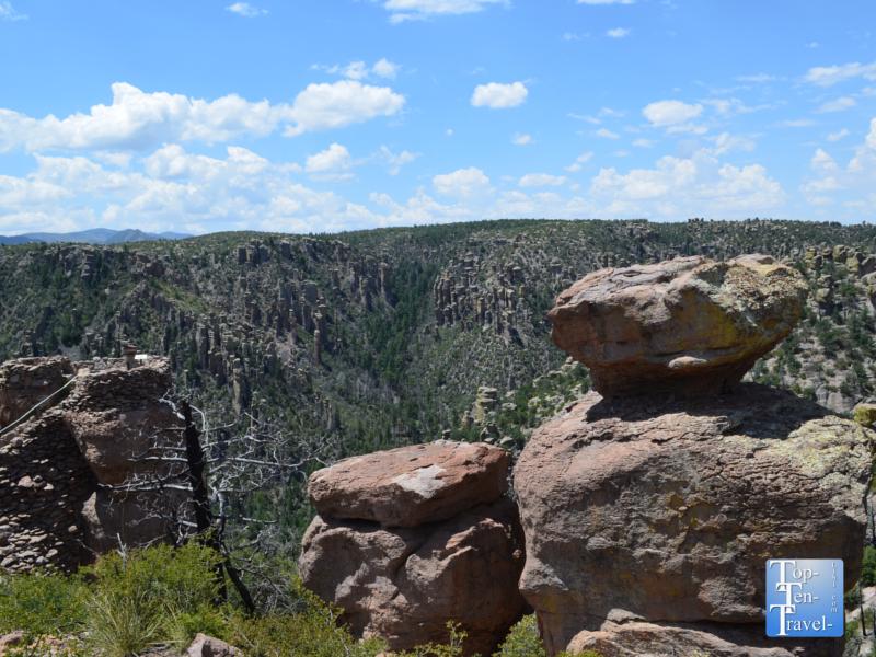 Balancing rocks at Chiricahua National Monument in Southern Arizona