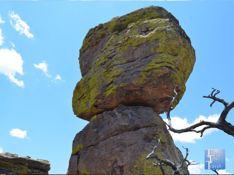 Balancing rock at Chiricahua National Monument in Southern Arizona