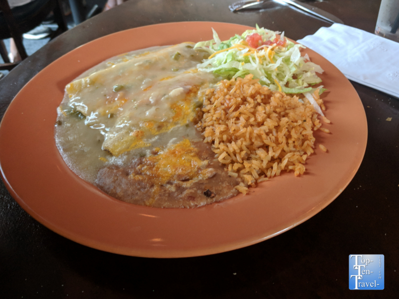 Enchiladas at La Placita Cafe in Tucson, Arizona