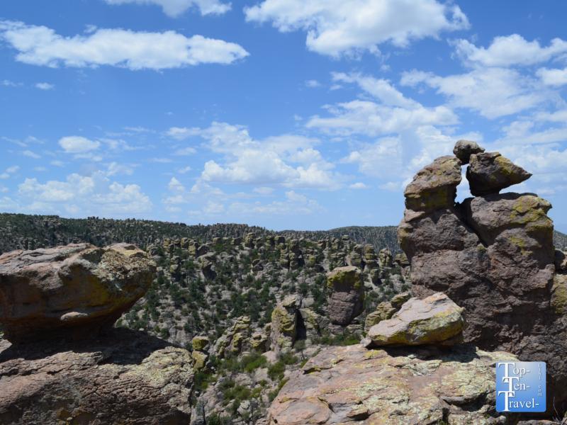 Views of the hoodoos and balancing rocks at Chiricahua National Monument in Southern Arizona