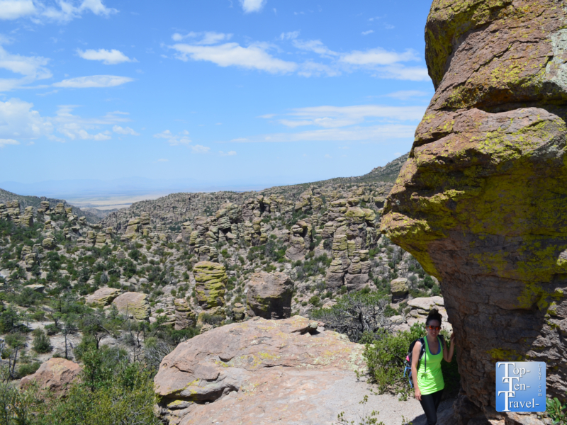 Great views along the Masai Nature trail at Chiricahua National Monument in Arizona