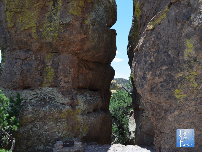 Grottos trail at Chiricahua National Monument in Southern Arizona
