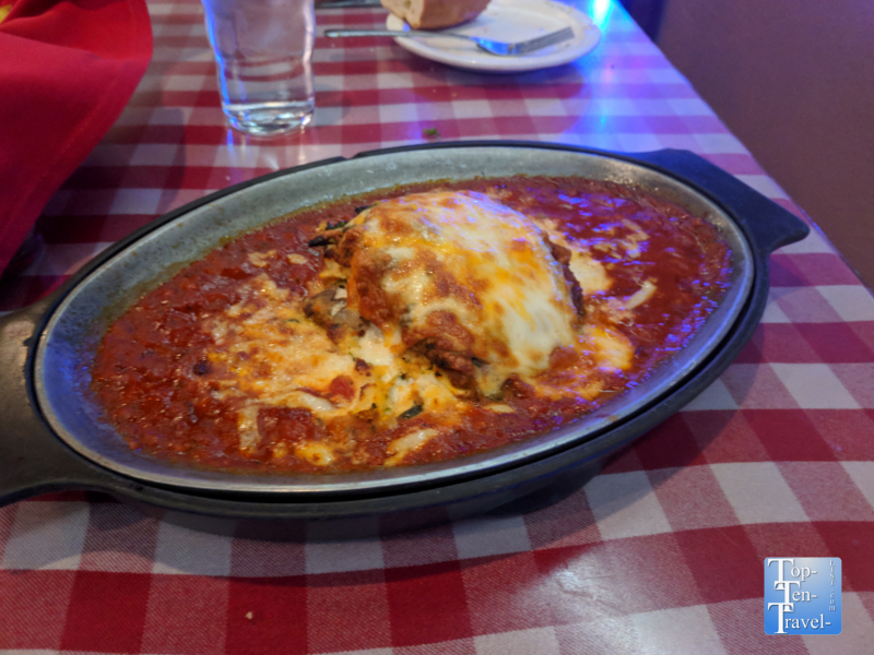 Lasagna at Caruso's in Tucson, Arizona