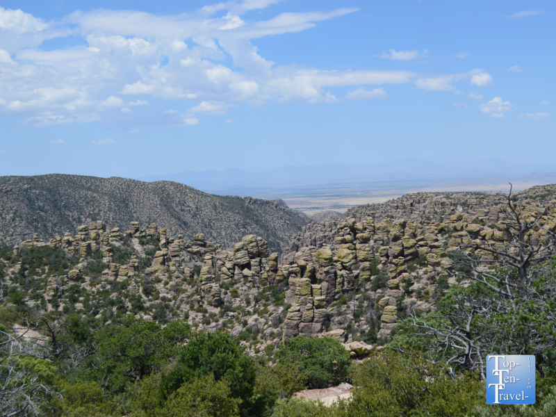 Pretty scenery along the Masai Point nature trail at Chiricahua National Monument in Arizona