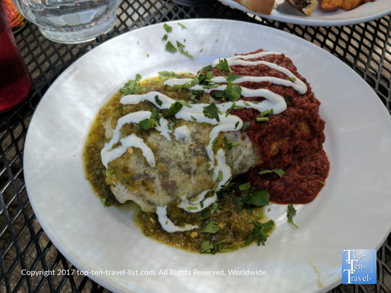 Smothered burrito at La Cocina in Tucson, Arizona