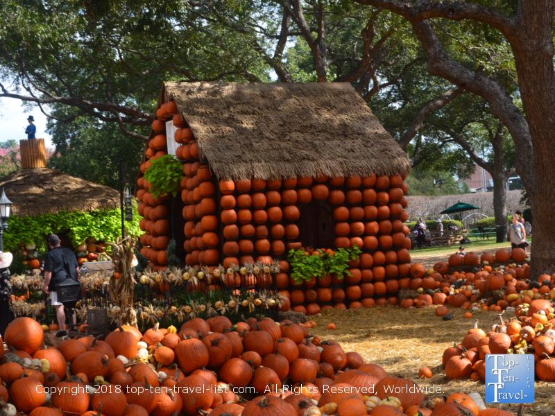 Neverland theme at the Dallas Arboretum Pumpkin Village