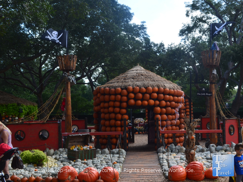 Neverland theme at the Pumpkin Village at the Dallas Arboretum