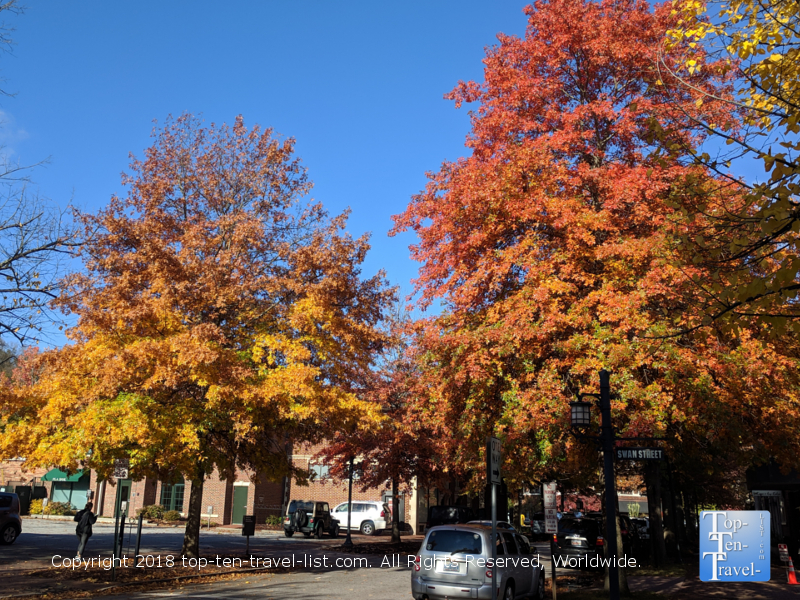 Downtown Asheville in the fall
