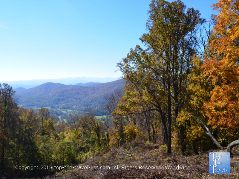 Fall foliage along the Blue Ridge Parkway