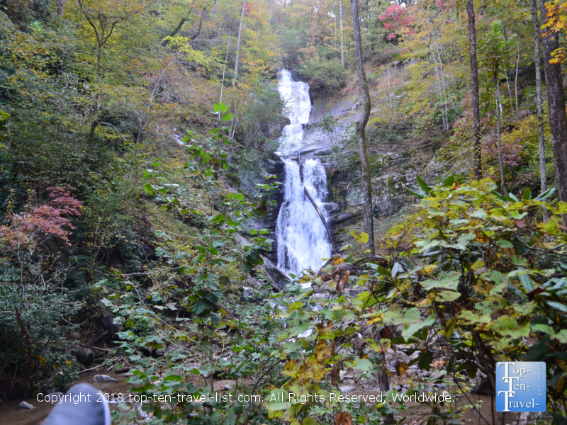 An autumn walk to Tom's Creek waterfall in Marion, North Carolina