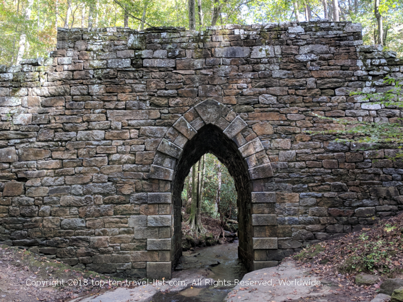 Historic Poinsett Bridge near Greenville, South Carolina