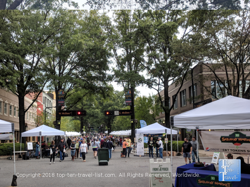 Saturday Market in downtown Greenville, South Carolina