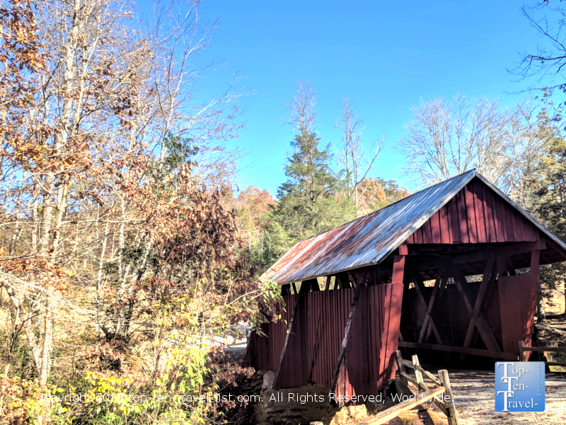 The last remaining covered bridge in South Carolina near Greenville