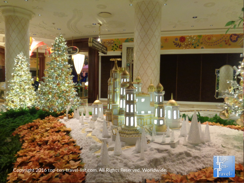 Amazing holiday display at The Wynn in Las Vegas, Nevada