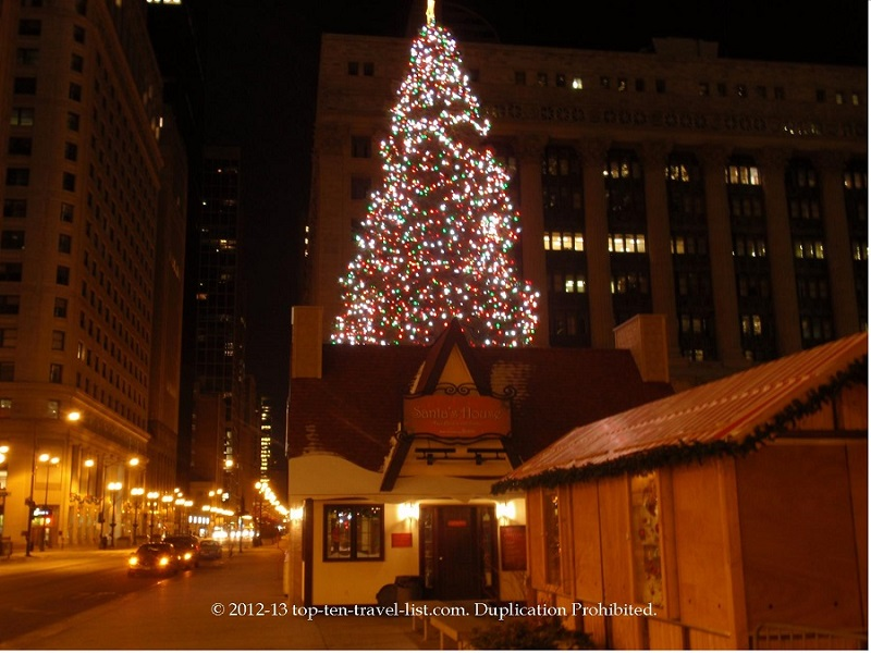 Chicago Christmas tree and annual German market