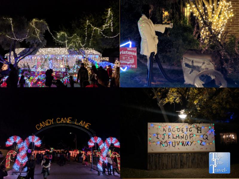 Winterhaven festival of lights in Tucson, Arizona