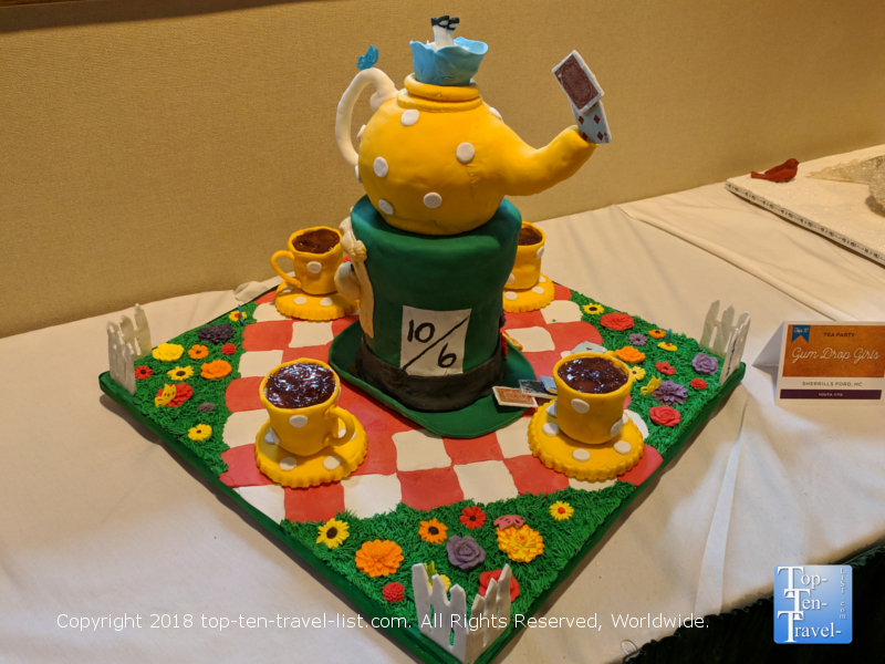 Alice in Wonderland gingerbread creation at the Omni Park Grove in Asheville, North Carolina