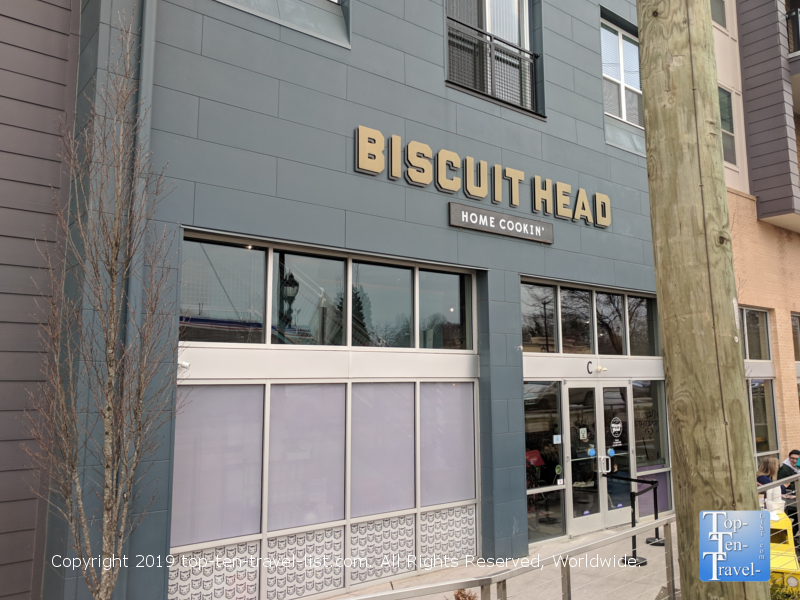Biscuit Head in downtown Greenville, South Carolina