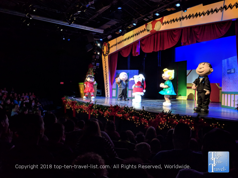 Charlie Brown Spectacular Show at Carowind's Winterfest in North Carolina