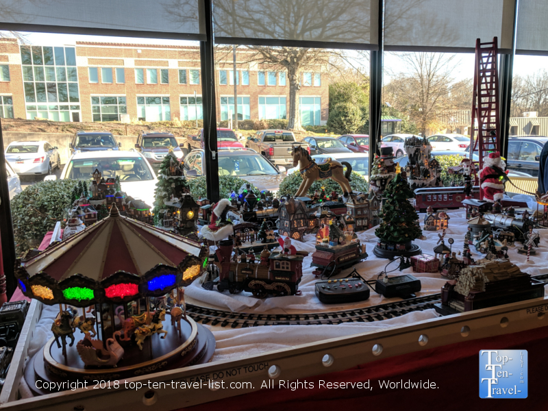 Christmas display at Stax Omega diner in Greenville, South Carolina