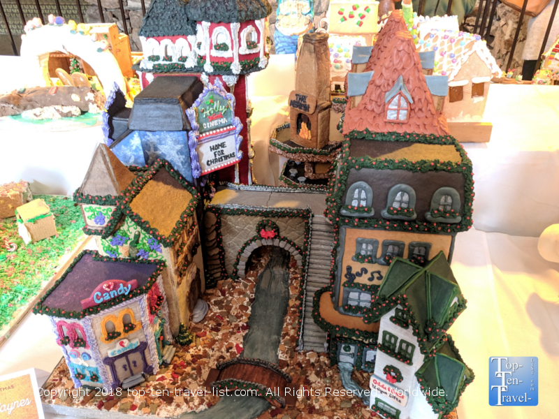 Amazing gingerbread house at the Omni Park Grove in Asheville, North Carolina