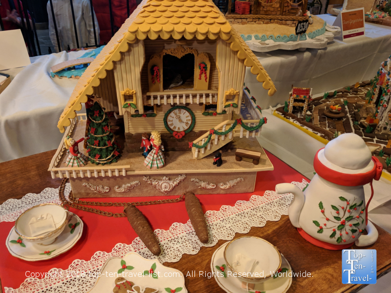 Cuckoo clock gingerbread creation at the Omni Park Grove in Asheville, North Carolina