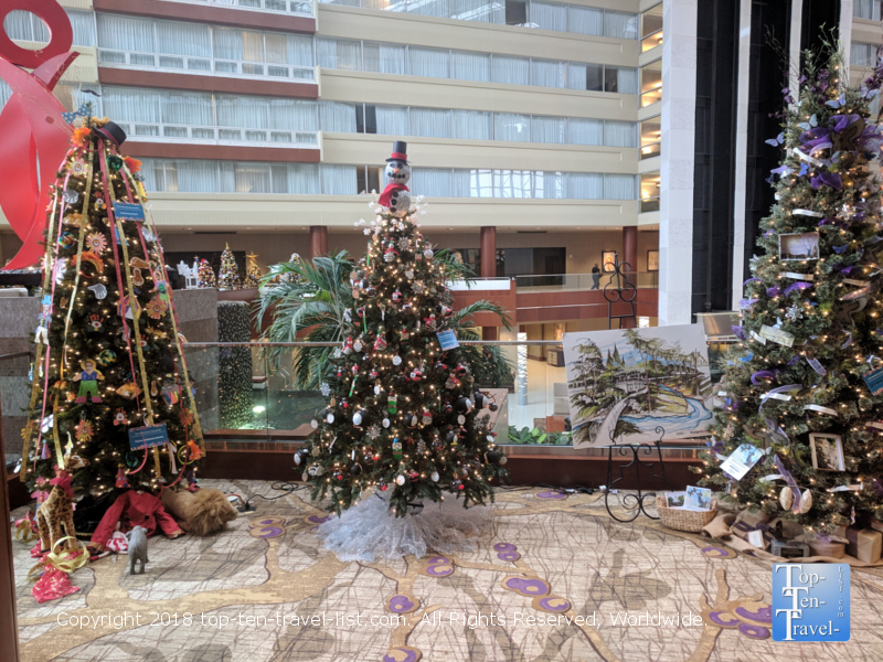 Festival of Trees at the Hyatt Hotel in downtown Greenville, South Carolina