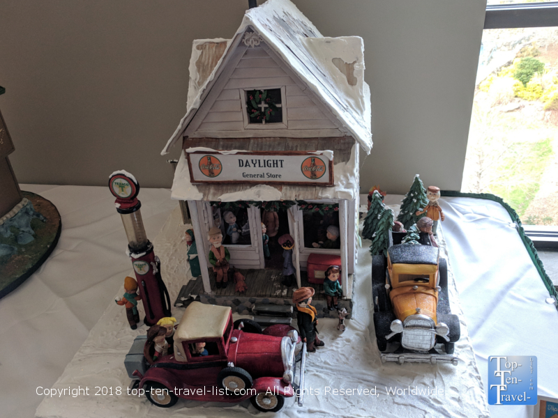 General Store gingerbread creation at the Omni Park Grove in Asheville, North Carolina