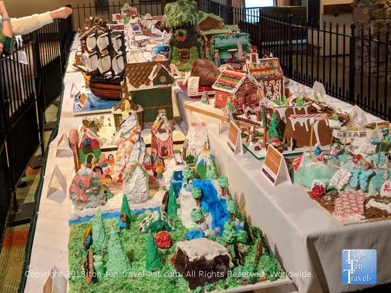 The National Gingerbread Competition at the Omni Park Grove in Asheville, North Carolina