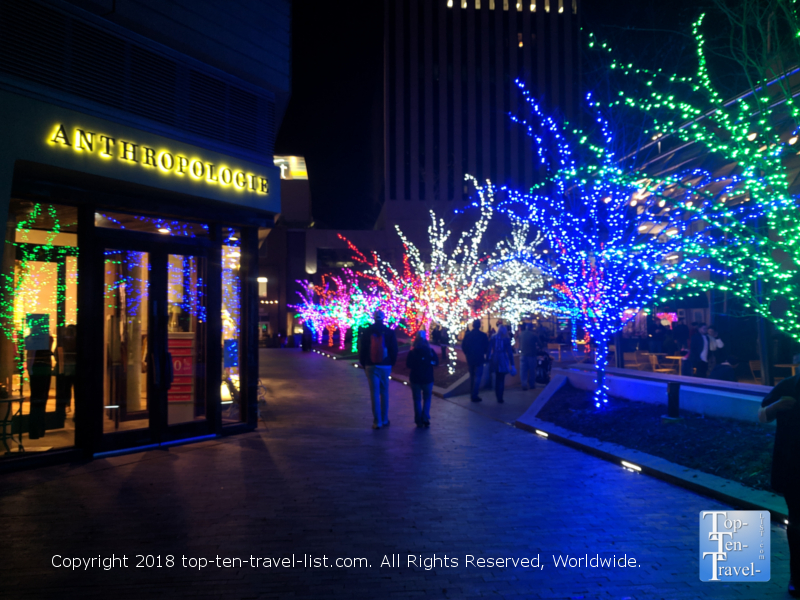 Christmas lights in downtown Greenville, South Carolina