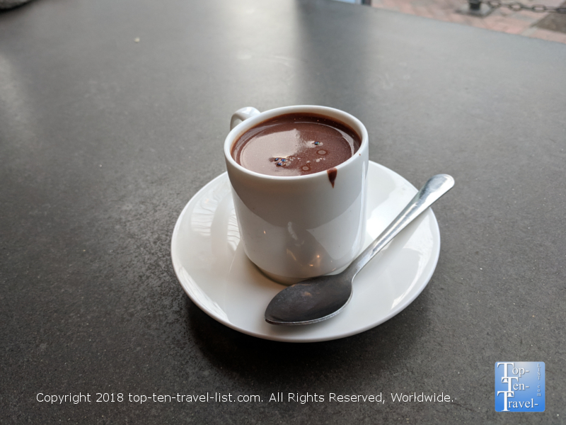 Delicious liquid truffle at French Broad Chocolate Lounge in Asheville, NC
