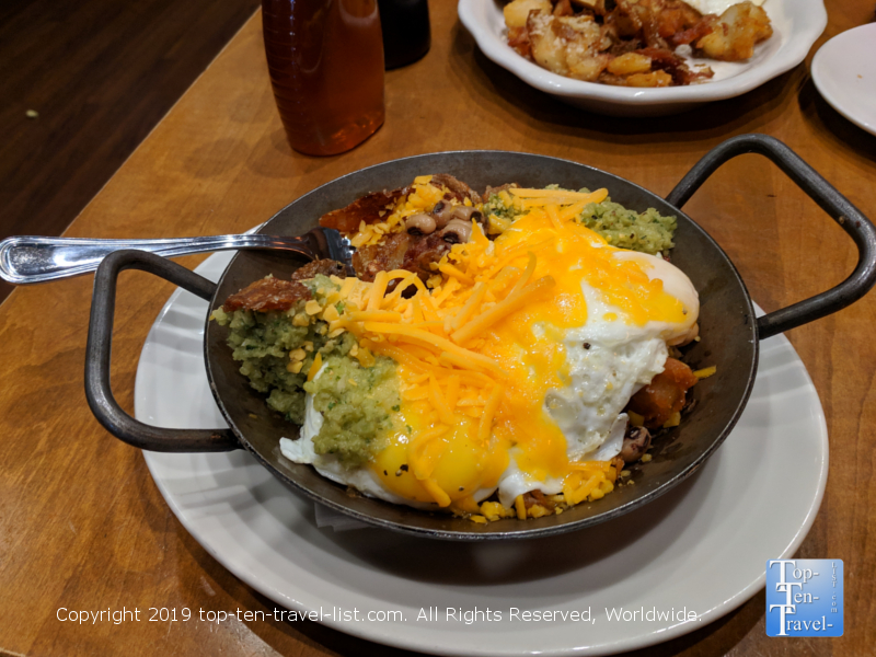 Old Skool breakfast bowl at Tupelo Honey in Greenville, South Carolina
