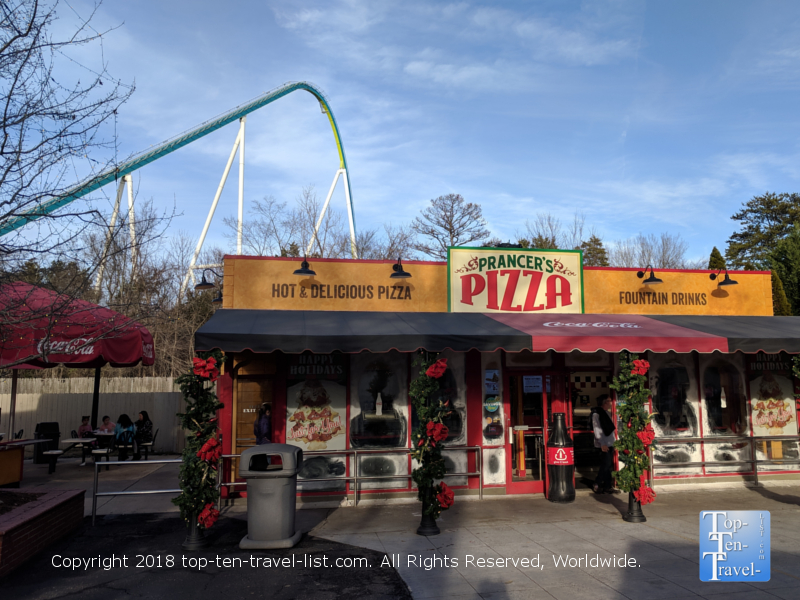 Prancer's Pizza at Carowind's Winterfest
