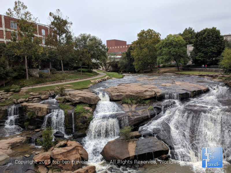 Reedy River waterfall in downtown Greenville, South Carolina